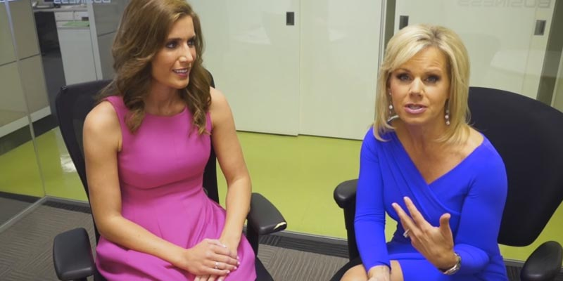 Abbey Curran and Gretchen Carlson Behind the Scenes